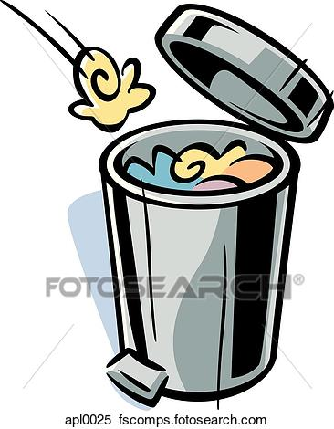 366x470 Stock Illustration Of Cartoon Drawing Of A Trash Can Apl0025