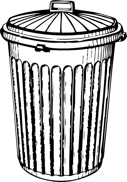 414x592 Trash Can Filled Clipart