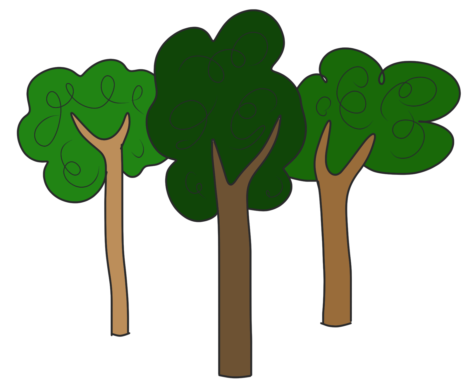 Cartoon Tree Clipart
