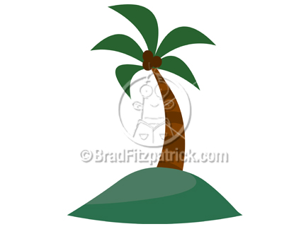 432x324 Palm Tree Clipart Picture On A Deserted Island