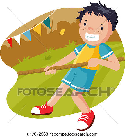 430x470 Clipart Of Athletic Meeting, 6 13years Old, Tug Of War, Pupil