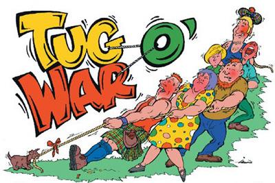 Tug of war cartoon clip art