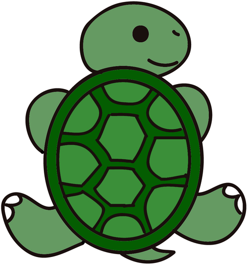 500x537 Picture Of A Cartoon Turtle