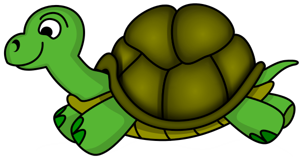 600x319 Running Turtle Clipart