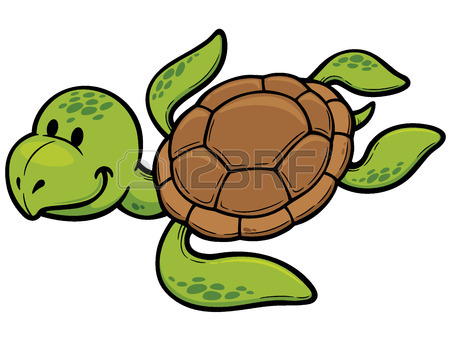 450x338 Vector Illustration Of Cartoon Turtle Royalty Free Cliparts