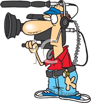 308x350 A Cartoon Television Cameraman