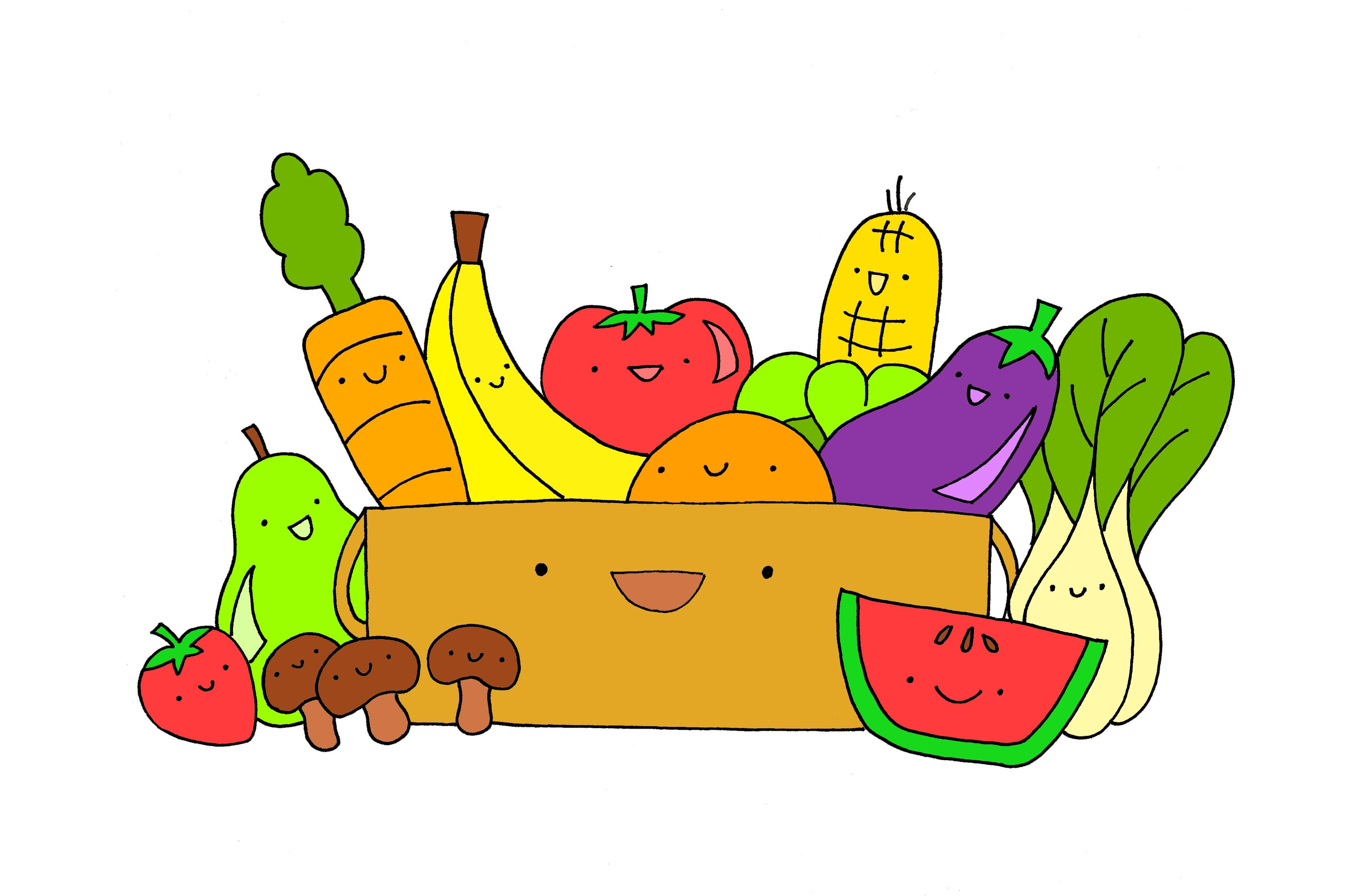3846x2517 Fruits Amp Vegetables Clipart Hd Quality