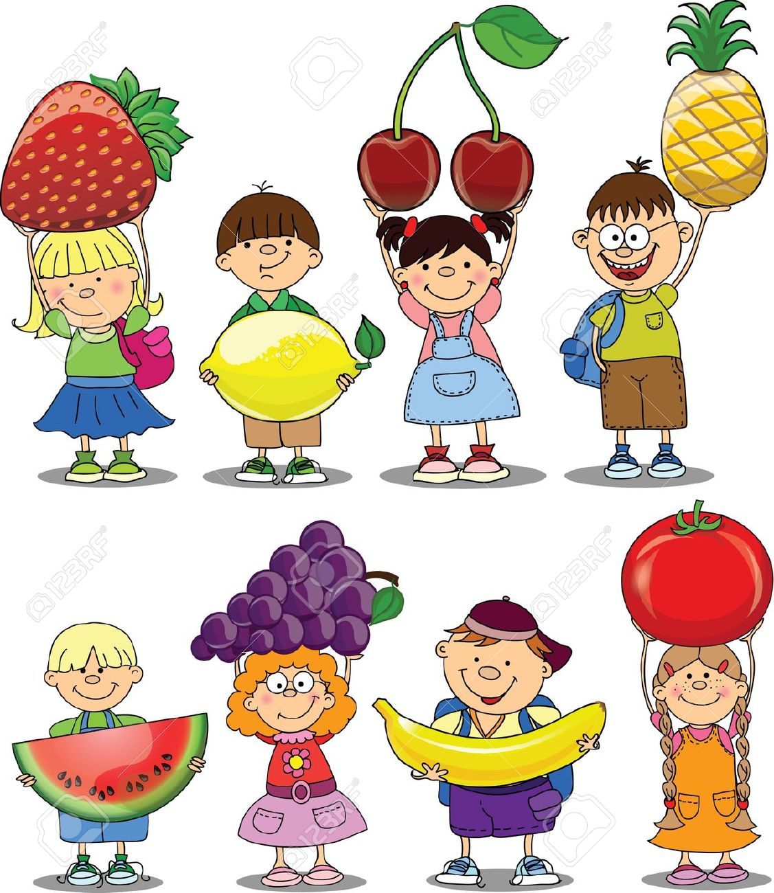 1127x1300 Cartoon Funny Fruit Vector 04 Clip Art Funny Fruit