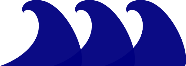 600x213 Monster Waves Clipart Blue Wave