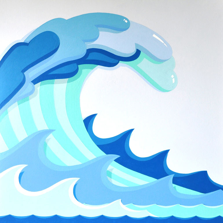 770x770 Monster Waves Clipart Tidal Wave