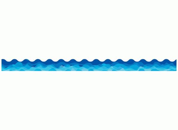 600x440 Wave Border Clip Art Clipart
