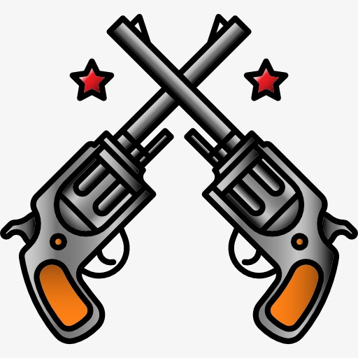 512x512 Two Pistols, Pistol, Lethal Weapon, Cartoon Png Image For Free