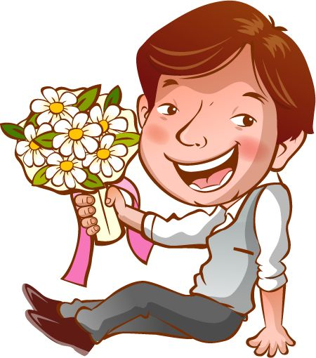 Cartoon Wedding Couple Clipart