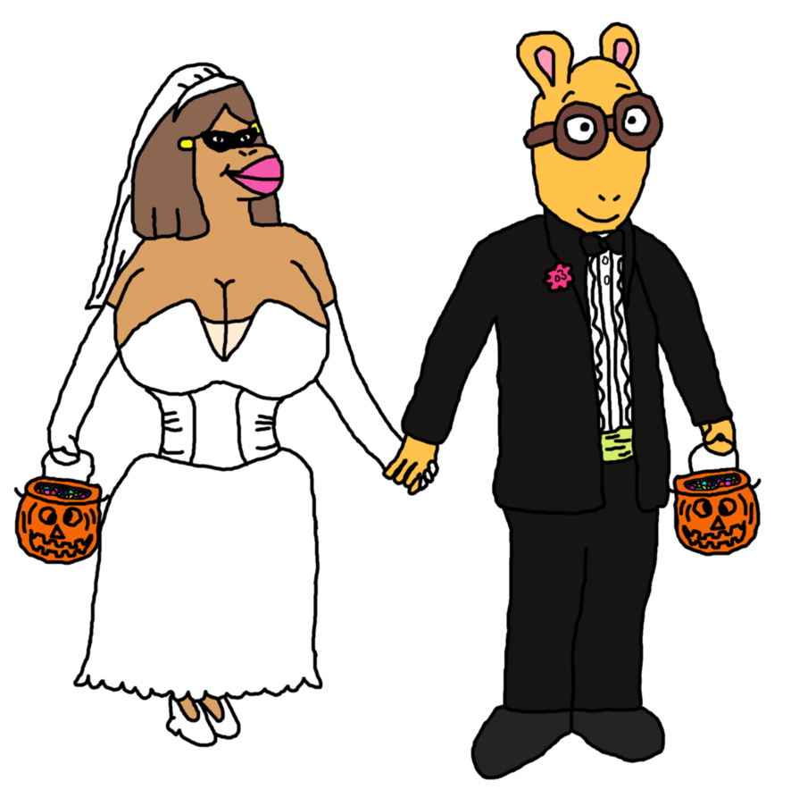 886x902 Arthur And Francine As A Wedding Couple In Clip Ar By