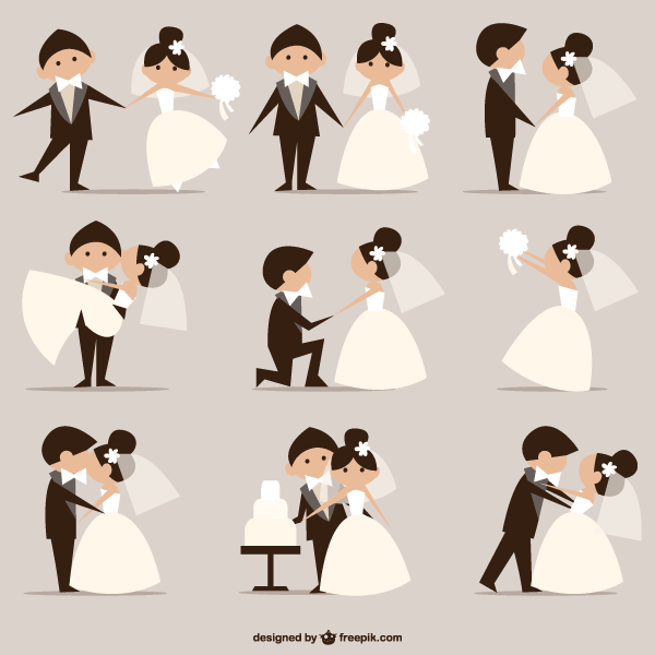 600x600 18 Bride Cartoon Clip Art Vectors Download Free Vector Art
