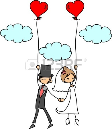 391x450 Set Of Isolated Cartoon Couple Scenes, Ideal For Funny Wedding