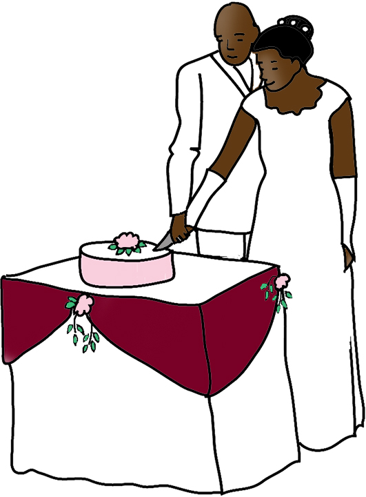531x720 Wedding Cake Clipart Bridal Couple