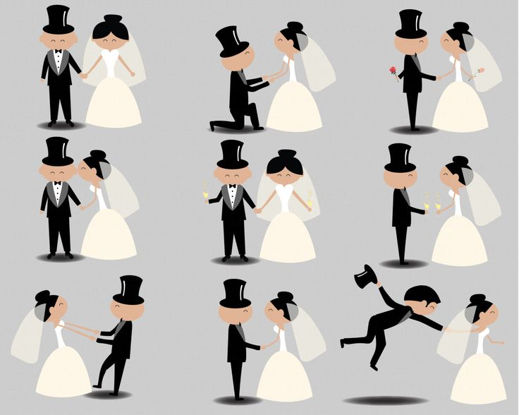 736x588 Wedding Stick Figures Clip Art