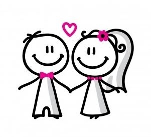 301x273 Happy Wedding Clipart