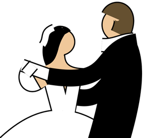 300x280 6466 Free Clipart Dancing Couple Silhouette Public Domain Vectors