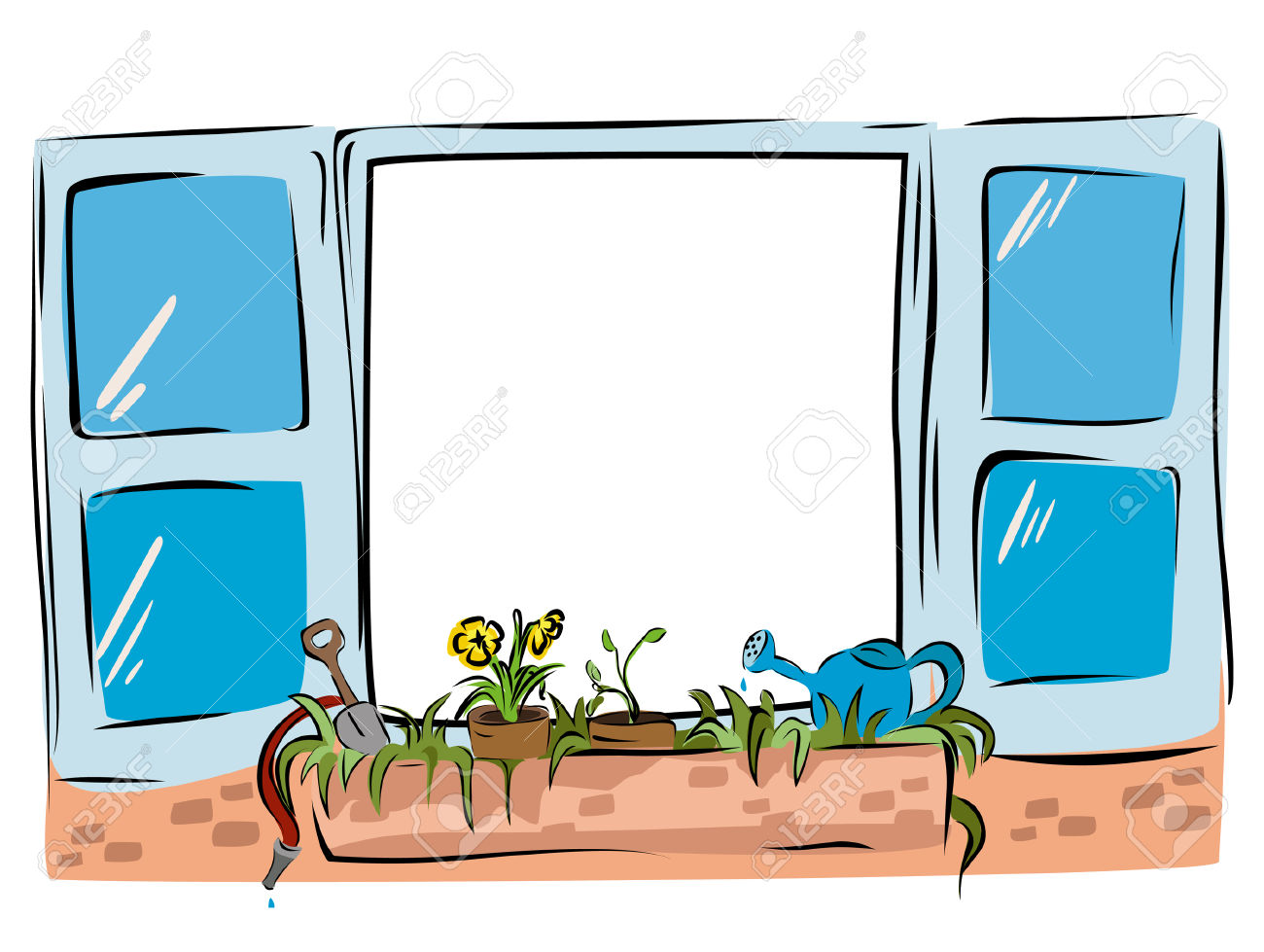 1300x979 Window Clipart Window Sill