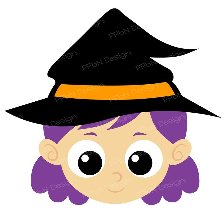 Cartoon Witch Face Clipart