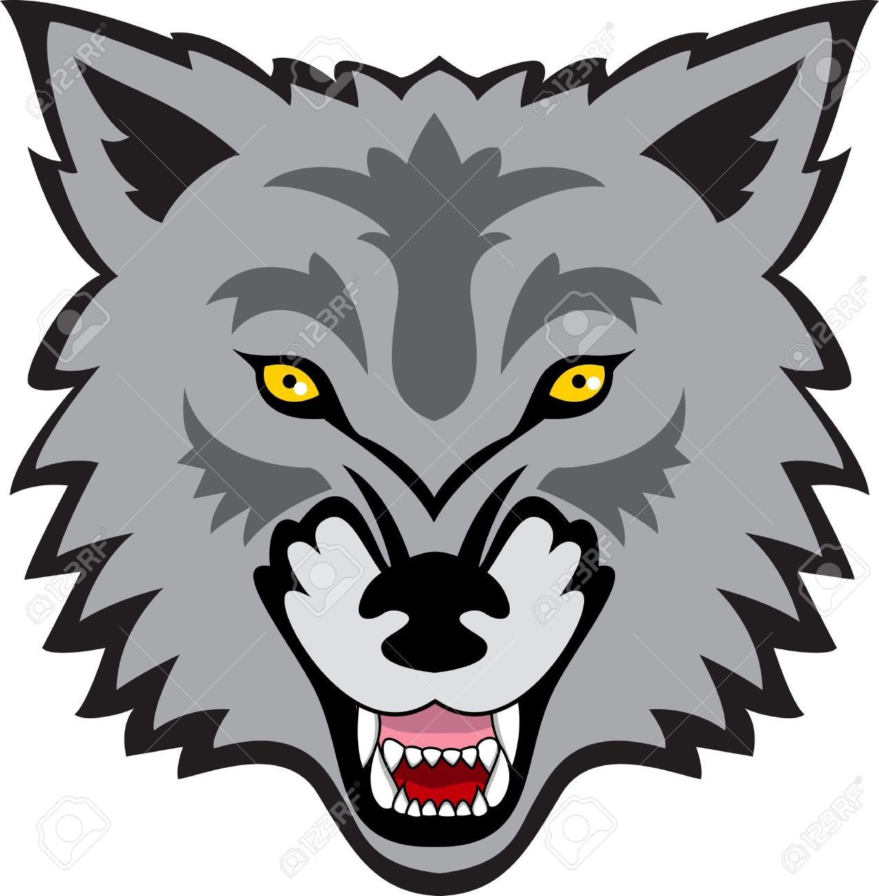 Cartoon Wolf Clipart | Free download on ClipArtMag