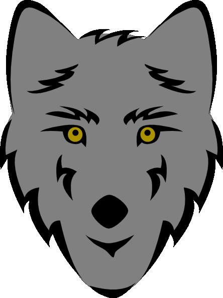 444x594 Wolf Head Stylized Clip Art