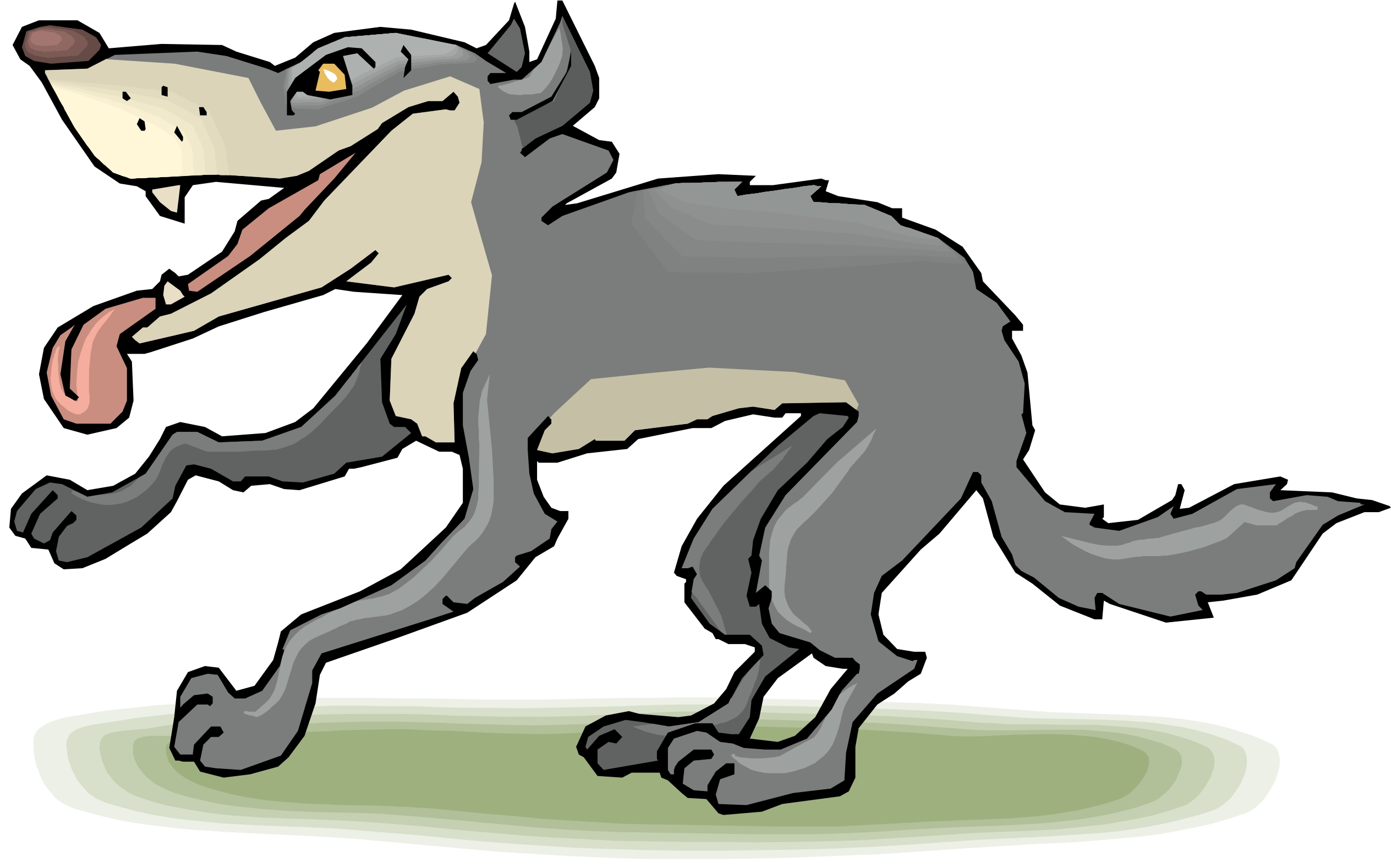 2528x1578 Wolf Clipart Cartoon