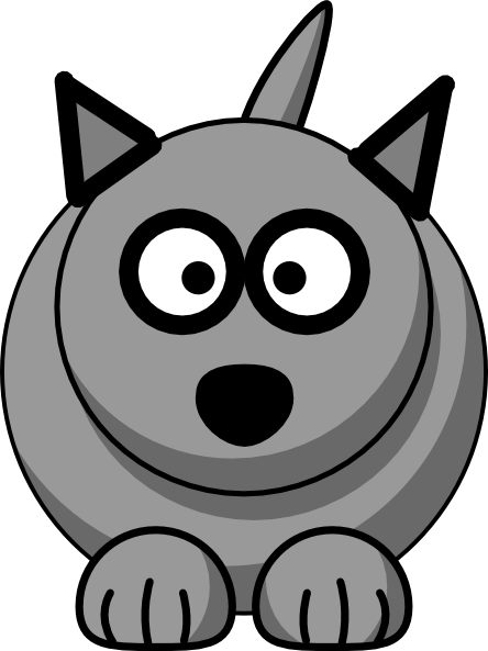 444x593 Cartoon Wolf Clip Art