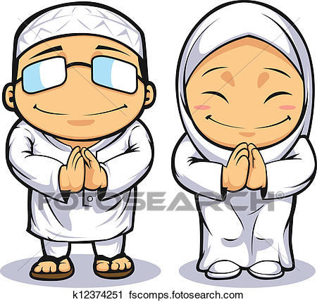450x429 Clipart Of Cartoon Of Muslim Man Amp Woman K12374251