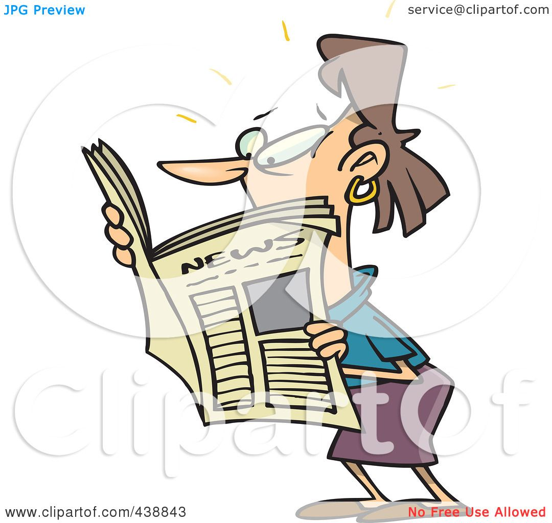 1080x1024 Royalty Free (Rf) Clip Art Illustration Of A Cartoon Woman Reading