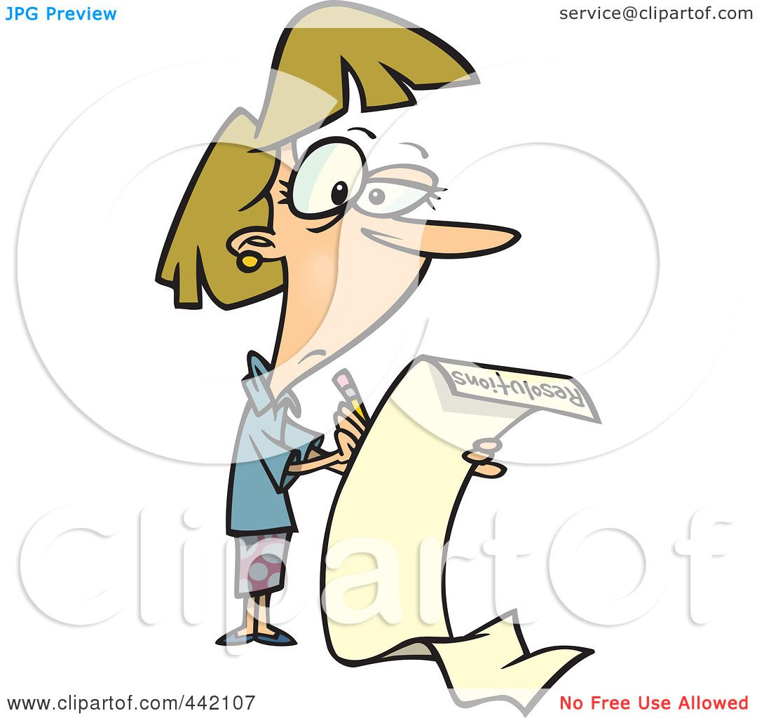1080x1024 Royalty Free (Rf) Clip Art Illustration Of A Cartoon Woman Writing