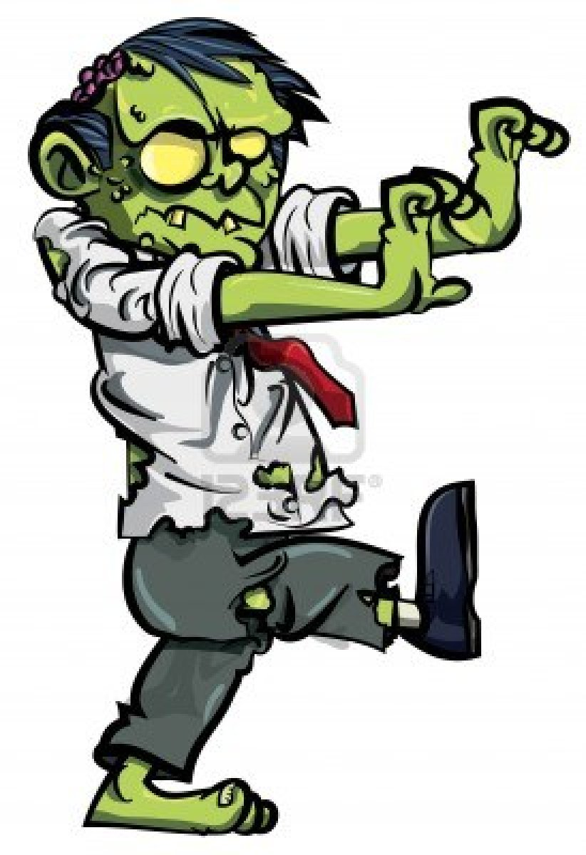 822x1200 Real Zombie Clipart