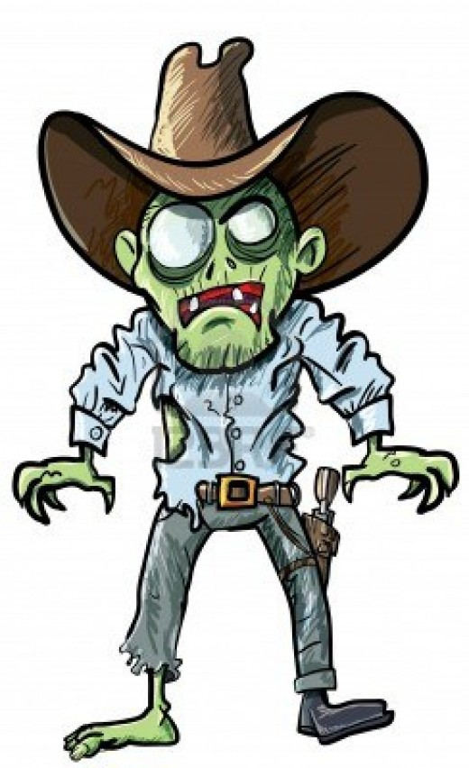 520x852 Vector Clipart Zombie