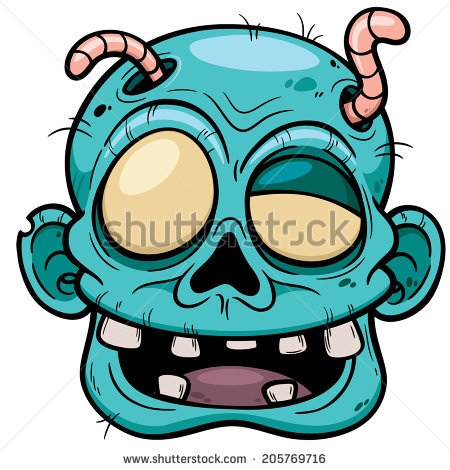 450x470 Vector Illustration Of Cartoon Zombie Face Zombie