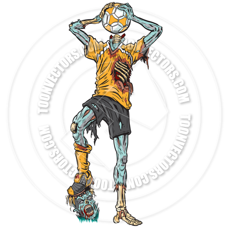 460x460 Zombie Soccer Player Vector Cartoon By Dolimac Toon Vectors Eps
