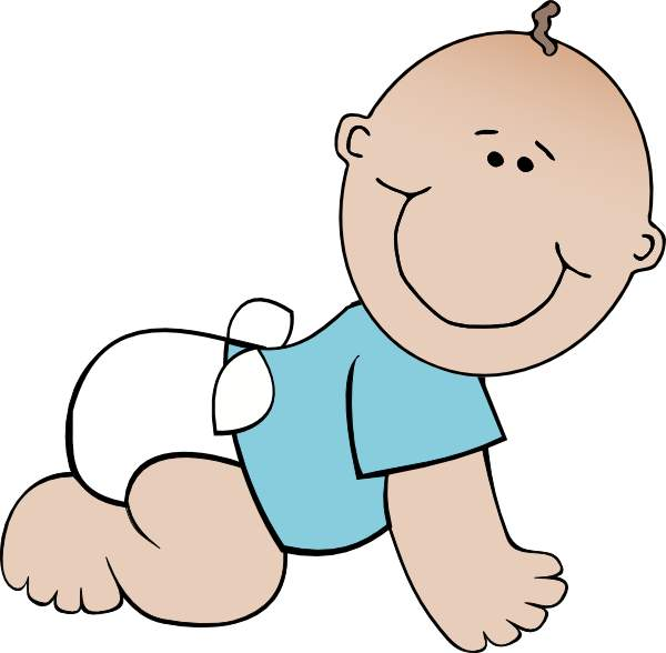 600x588 Free Baby Boy Clipart Image