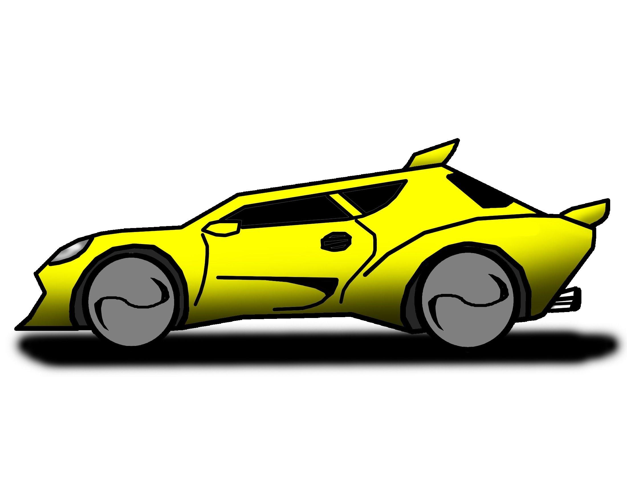 2200x1700 How To Draw Cartoon Renegade Car The Ez Way