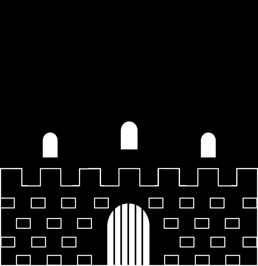 Castle Clipart Black And White