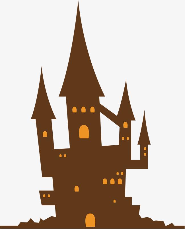 650x802 Horror Halloween Castle, Vector Png, Castle, Horror Castle Png