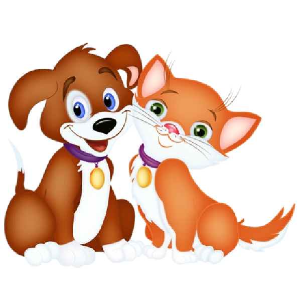 600x600 Cute Dog And Cat Clip Art