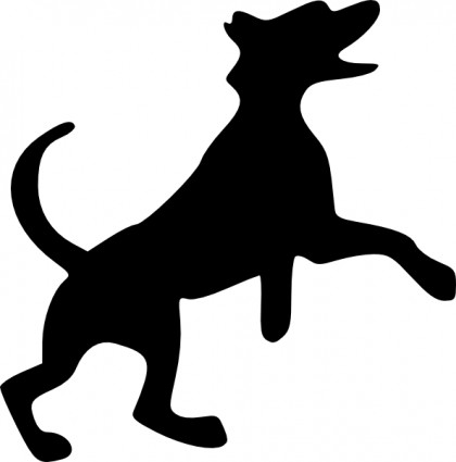 420x425 Dogs Dog And Cat Silhouette Clip Art Free