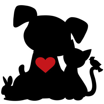 346x346 Heart Clipart Dog And Cat