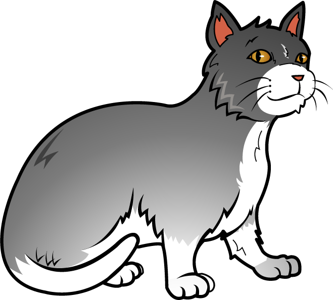 659x594 Kitten Clipart Gray Cat
