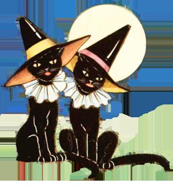354x382 Black Cat Clipart Moon