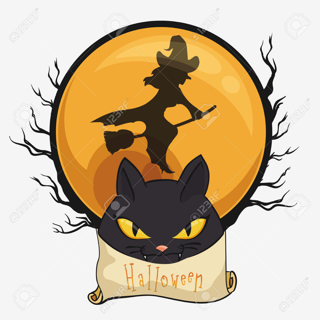 1300x1300 Witch Clipart Spooky Moon