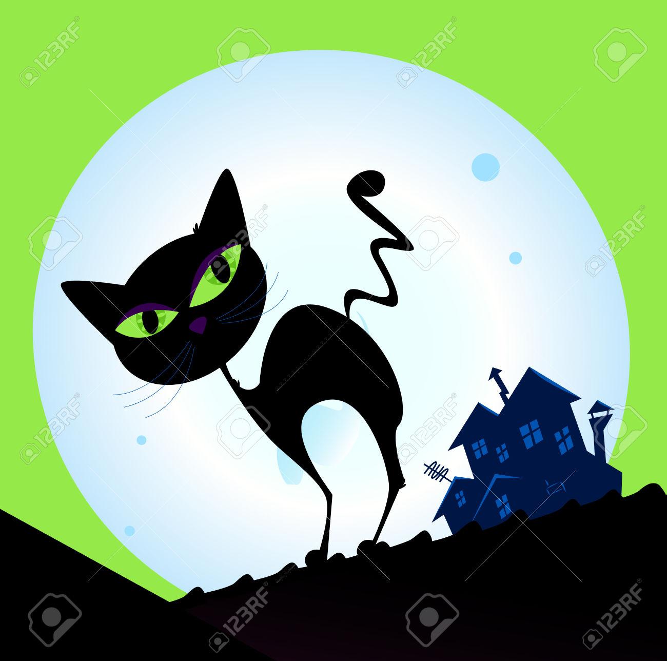 1300x1288 Black Cat Clipart Moon 2492593