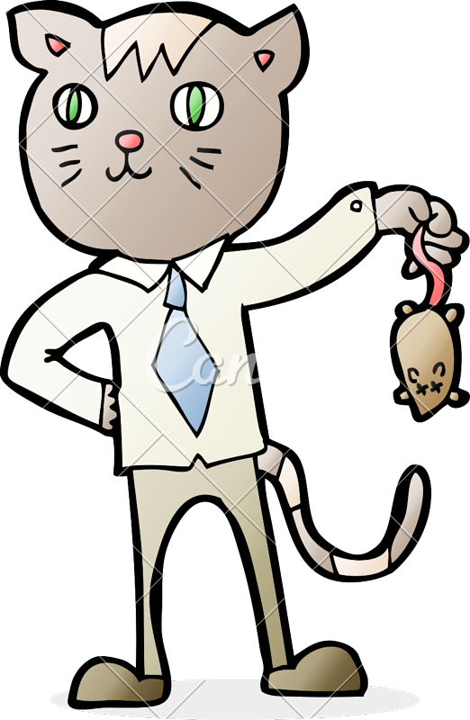 522x800 Business Cat With Dead Mouse