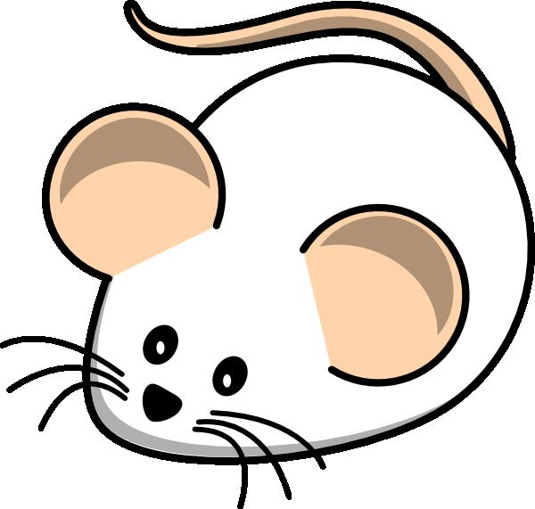 600x571 White Field Mouse Clip Art